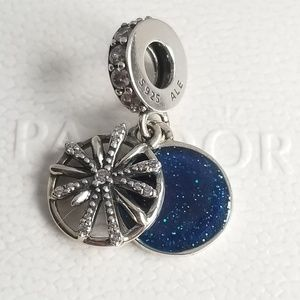 Pandora Dazzling Wishes Dangle Charm Blue Silver